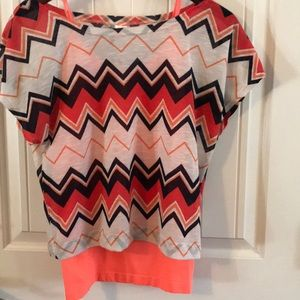 Tops - Orange tank and short cotton told sold together